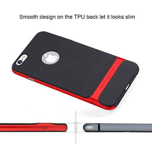 "Rock Coque anti-choc rigide ultra mince pour iPhone 6/6s 4,7 pouces, plastique, For iPhone 6/6s_Red, iPhone 6/6s_4.7"" rouge"
