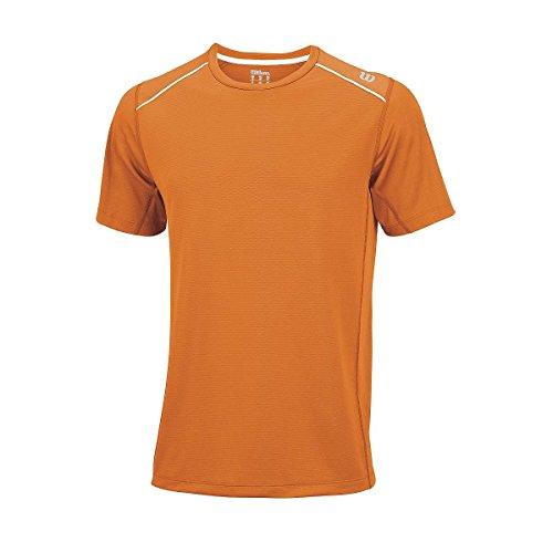 Wilson M Nvision Elite Crew Maglietta Arancione (Clementine-X)