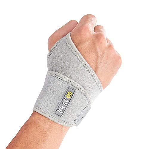 BRACOO Handgelenkbandage   Handgelenkstütze für Sport und Alltag   Wrist Wrap für Damen & Herren   WS10   grau