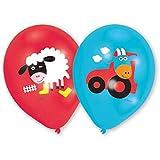 amscan Luftballon Farm Fun groß rund Sortiert 6 Stück