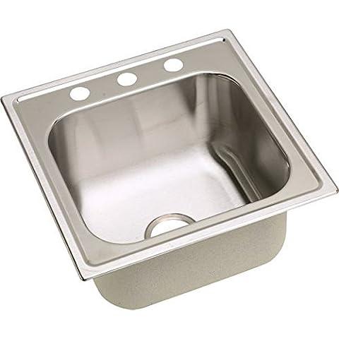 Elkay DPC12020101 20 Gauge Stainless Steel Single Bowl Top Mount Laundry/Utility Sink, 20 x 20 x 10.1563 by Elkay