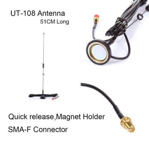 FidgetKute SMA-F UHF+VHF Antenne für Radio Kenwood TK Baofeng BF- 888S Nagoya UT-108UV (Radio Nagoya-antenne Für Baofeng)
