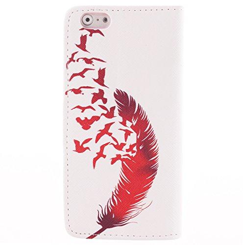 """MOONCASE iPhone 6 Case Dessin Coloré Coque en Cuir Haute Qualité Portefeuille Housse de Protection Étui à rabat Case pour iPhone 6 (4.7"""") -LK08 ST02"""