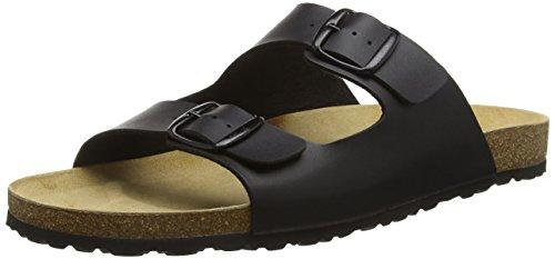 Sandalen Große Füße (Lico Herren Bioline Man Flache Hausschuhe, Schwarz (Schwarz), 47 EU)