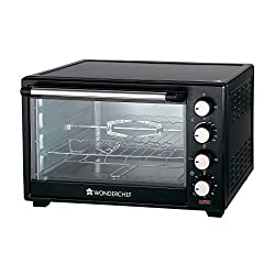 Wonderchef 63152220�28-Litre Oven Toaster Grill with Convection and Rotisserie (Black)