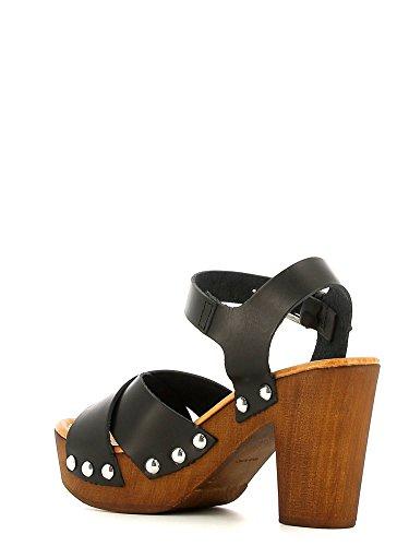 Grünland SAND SA1043 sandale noire sangle femme sabot talons Noir