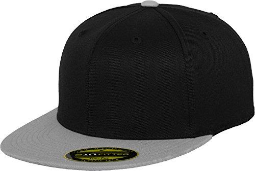Flexfit Erwachsene Mütze Premium 210 Fitted 2-Tone, Blk/Gry, S/M, 6210T -