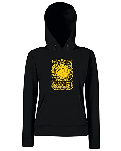 T-Shirtshock - Sweats a capuche Femme TUM0208 AGAINST MODERN FOOTBALL Noir
