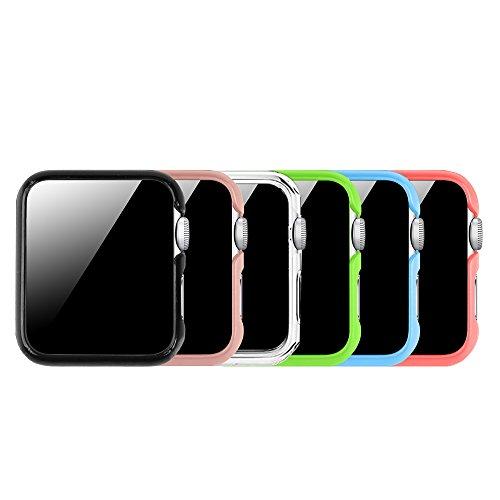 [6 Farbe Packung] Fintie Apple Watch Hülle 42mm, [Ultra-Dünn] Leichte Hochwertige Polycarbonat Harte Schutz Gehaüse Abdeckung für All Versions 42mm Apple Watch Series 3 / 2 / 1 Sport & Edition