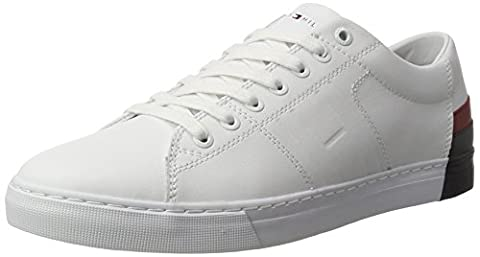 Tommy Hilfiger Men's J2285AY 9 Low-Top Sneakers, White (White), 9