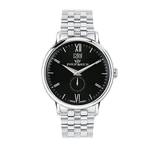 PHILIP WATCH Reloj Analógico para Hombre de Cuarzo con Correa en Acero Inoxidable R8253595001
