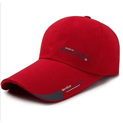 -Kappe Für Frühjahr Und Sommer Sonnenhut Für Sonnenschutz Freizeit-Baseball-Kappe,Red (Männliche Baseball Kostüm)