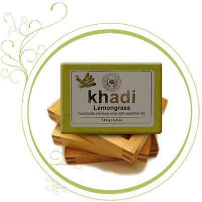 Khadi Lemongrass Handmade Premium Soap Bar 125G  available at amazon for Rs.57