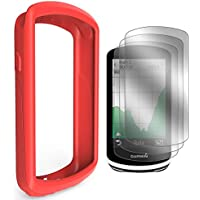 TUSITA Case with Screen Protector for Garmin Edge 1030 GPS - Silicone Protective Cover Skin - Bike Computer Accessories