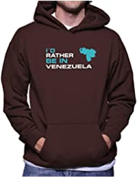 Teeburon ID RATHER BE IN Venezuela Sudadera con capucha
