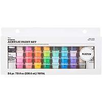 مجموعة اوعية طلاء اكريليك 30049384 من داريس ملمس سلس ومقاسات وألوان متنوعة و34 قطعة