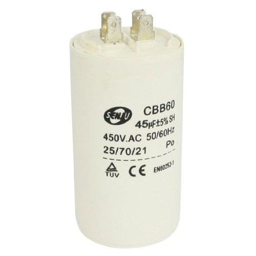45uF 50/60 Hz (DE) 450VAC CBB60 Kondensator Motor laufen für Waschmaschine -