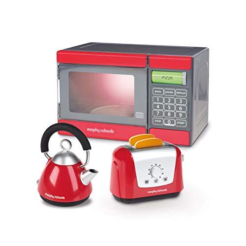 Casdon PLC Morphy Richards Mikrowelle, Wasserkessel und Toaster - Spielzeug (rot/grau)