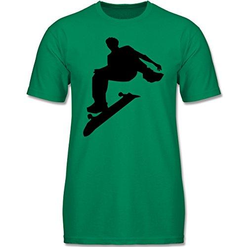 4cac39a09c7571 Sport Kind - Skater - 140 (9-11 Jahre) - Grün - F140K - Jungen T-Shirt