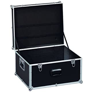 Gerätekiste II, seitl. Griffe, AluPlus ToolBox 22, schwarz, Werkzeughalter/Rückhaltegurte