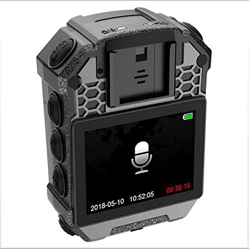 DX.JLY 1296HD Nachtsichtgerät für Strafverfolgungs-Videorecorder, 2-Zoll-Display,128 GB Speicher, Laserpositionierung,Police Body Camera, wasserdicht IP65, - Polizei-videorecorder