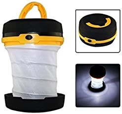 SHOPEE LED Cree Round Shape Pop Up Lantern Torch Flashlight White Bright Light Source Pocket Type Emergency & Long Use (COLOR MAY VERY)