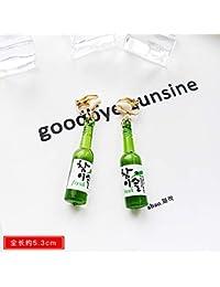 VVSBAOZI Crystal Pendientes Pendientes de cara fina viento frío clip de oreja Corea temperamento salvaje personalidad