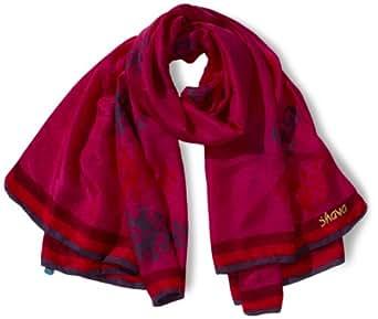 Mandala Damen Schal AC10SE09, Gr. one size (XXXL), Rot (raspberry)