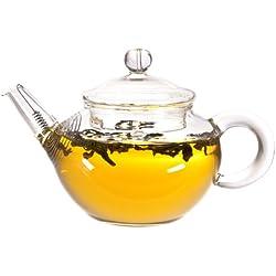 Kleine Teekanne aus Glas, 200ml, für chinesische Teezeremonie - Besonders geeignet für Grünen, Oolong und Pu Erh Tee Zubereitung - tea exclusive