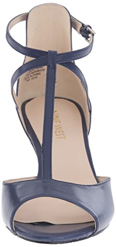 Nine West Gamgee Leather Pump Dress blue