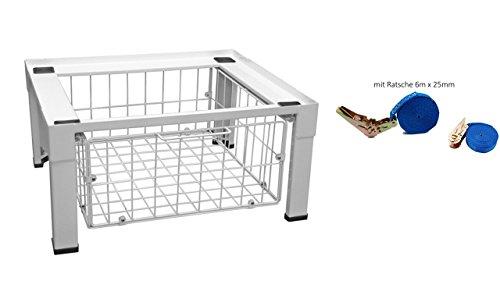 Sockel mit Schublade (für Waschmaschinen, Trockner, Kühlschränke, Gefrierschränke mit Sicherheitsgurt ! FREI HAUS