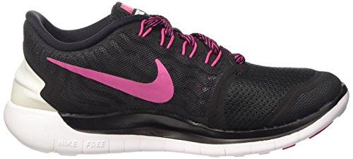 Nike Free 5.0, Chaussures de Running Compétition Femme Noir - Schwarz (Schwarz/lebendiges Pink - Weiß 061)