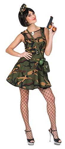 oldat Kostüm Damen sexy Soldatin Damen-Kostüm Größe 36/38 ()