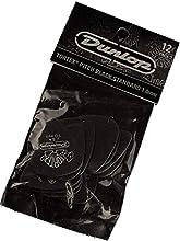 Jim Dunlop 488P1.0 Tortex Standard Player Pack - Pitch Black (Pack of 12)