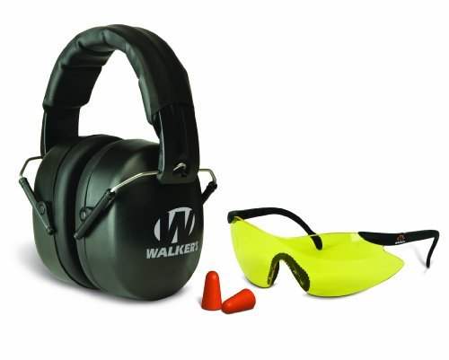 Walkers Game Ear Ext Plugs Safety Combo Kit, Black, Left/Right by Walker' s Game Ear