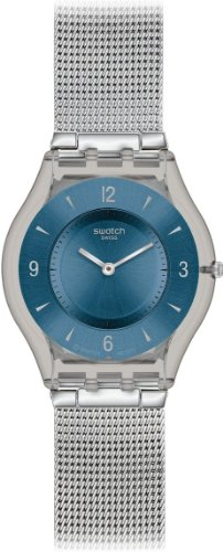 Swatch Metal Knit Blue SFM120M -  Orologio donna