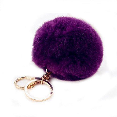 Schlüsselanhänger Plüsch Pompom Ball Taschenanhänger Handtasche Anhänger Handtaschenanhänger Keychain Dekor Pusheng (Flauschige Tasche Handtasche)