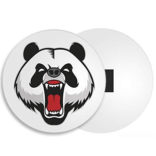 DestinationVinyl Verärgerter Panda-Bär Kühlschrankmagnet - Bären Tier Wilde Kühle Maskottchen-Kind-Geschenk # 4366