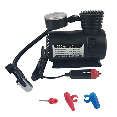 leoboone Mew Quick Flow compatto compressore d\'aria, 12v auto Mini elettrica compatta della pompa del compressore d\'aria della gomma della bici di gonfiaggio 300 psi