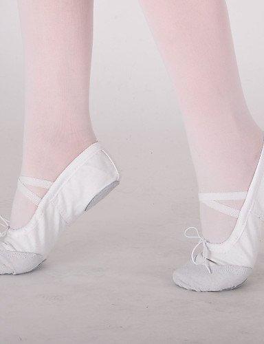 Pour les enfants des femmes / chaussures de Danse Ballet Toile Talon plat noir / rose / rouge / blanc Ballet Slipper pour Filles Pink