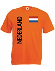 world-of-shirt Nederland/Holland Herren T-Shirt Trikot|