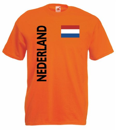 world-of-shirt Nederland/Holland Herren T-Shirt Trikot|L