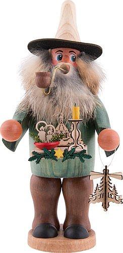 Räuchermann Leuchterhändler von DREGENO SEIFFEN 19cm - Original erzgebirgische Handarbeit, stimmungsvolle Weihnachts-Dekoration -