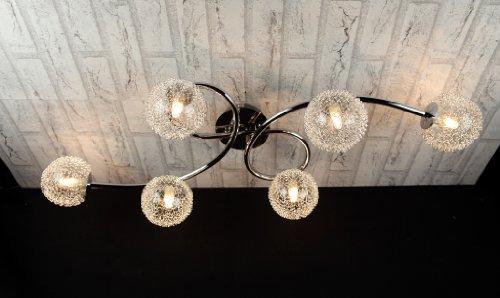 Plafoniere Vetro Soffiato : Trio lighting plafoniera art. r61326106 lampadario moderno acciaio