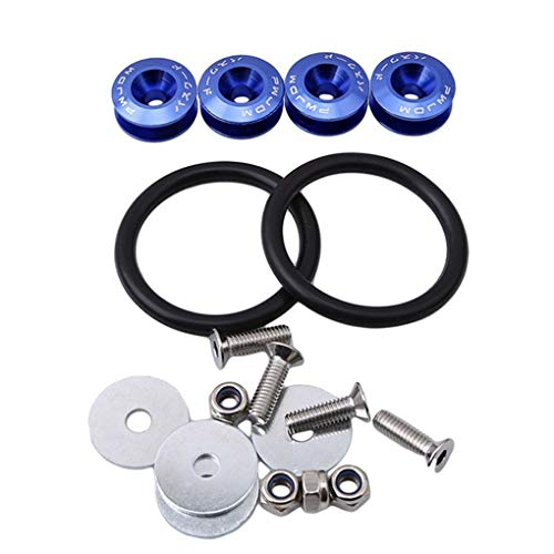 Busirde Auto-Stoßstangen Schnellverschlüsse Werkzeug-Sets Auto Fahrzeug Auto Trunk Fender Hatch Kits Blau 10.0 cm * 5.0 cm * 4.0 cm
