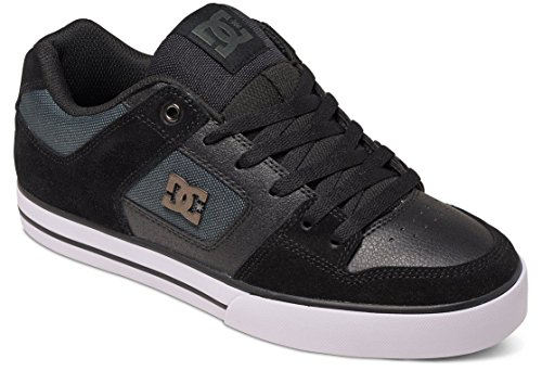 DC Shoes Pure Se, Baskets Basses Homme Black Dark Grey