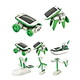 Tofree 6 IN 1 DIY Funny Educational Learning Solar Power Energy Robot Kit Children Kids Plastic Toy