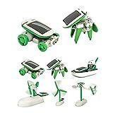 Tofree 6 IN 1 DIY Funny Educational Learning Solar Power Energy Robot Kit Children Kids Plastic Toy