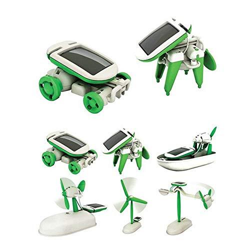 Tofree 6-in-1 DIY lustiges Lernset Solarenergie Roboter Kit Kinder Kinder Kunststoff Spielzeug