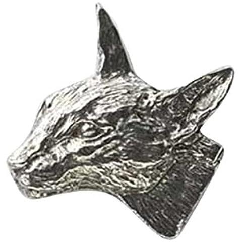 In peltro, a forma di gatto Siamese,